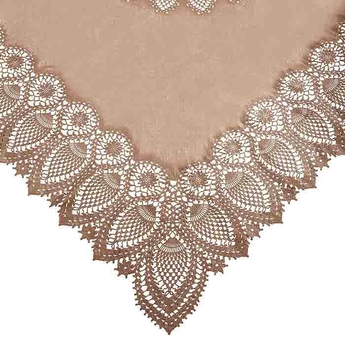 Vinyl square lace waterproof tablecloth linen color 137 x 137 cm