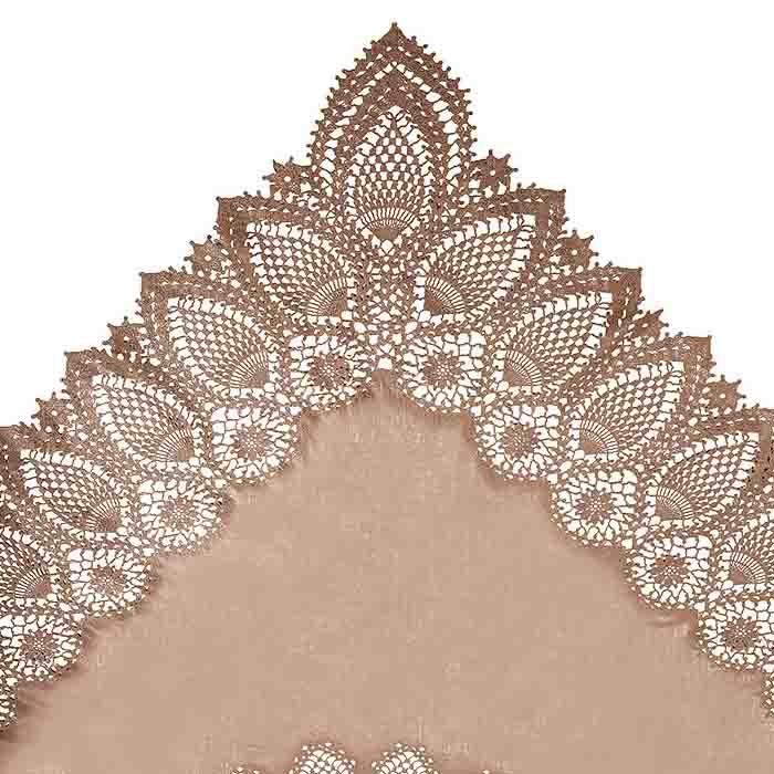 Vinyl lace waterproof tablecloth linen color 137 x 182 cm