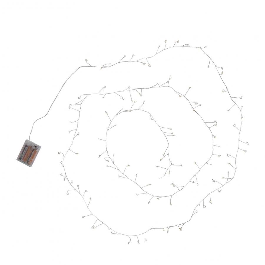 Cascata di 100 led con batteria 300 cm