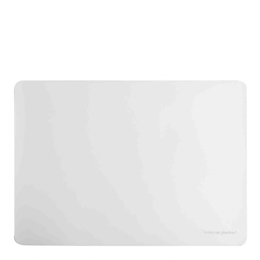 White fake leather tablemat 32 x 45 cm