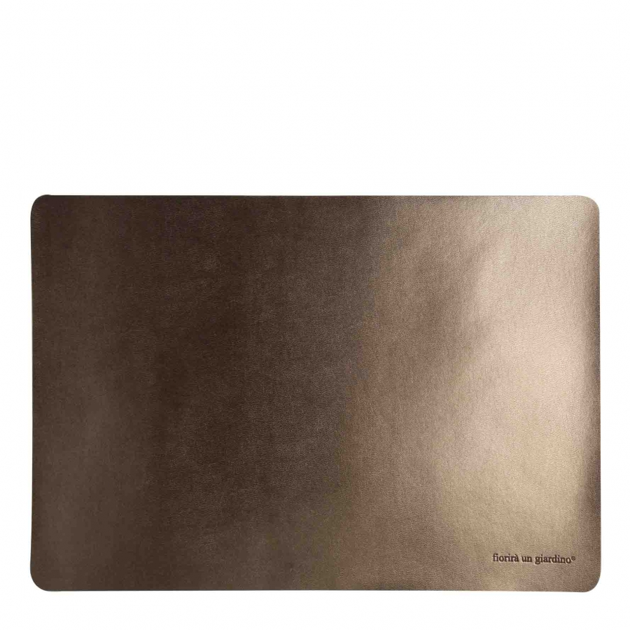 Brass fake leather tablemat 32 x 45 cm