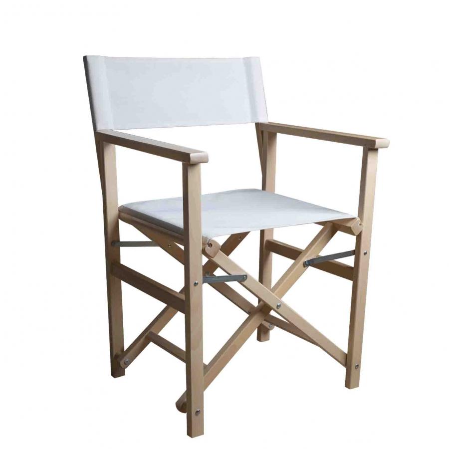 Chaise pliable blanche 50x56 h86 cm