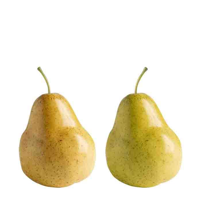 Frutto artificiale pera assortita (gialla o verde) h9 cm