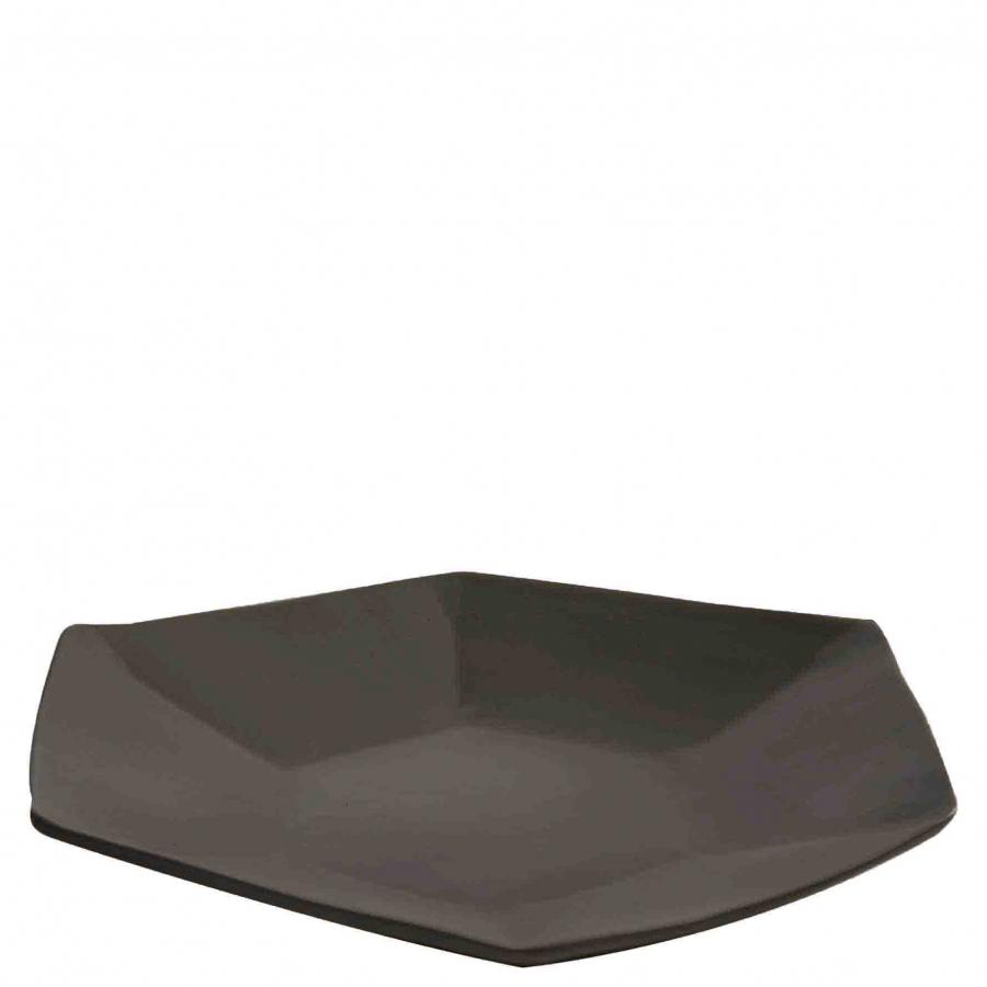 Segnaposto esagonale in gres nero d39 cm