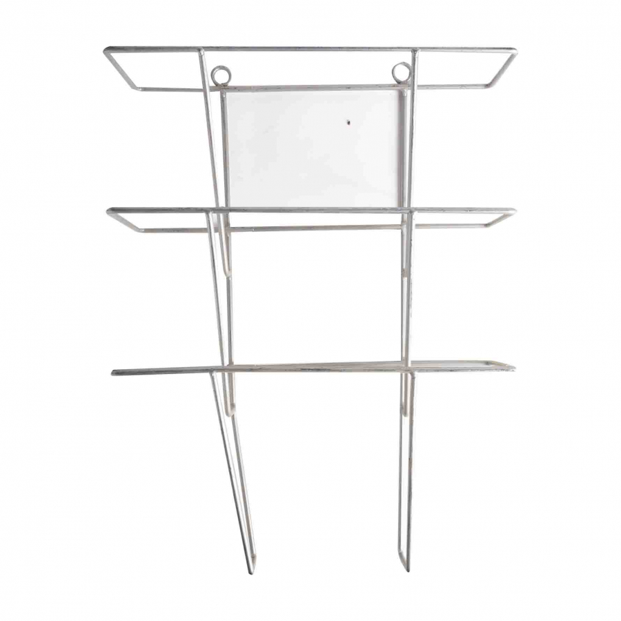 Magazine rack in silver iron