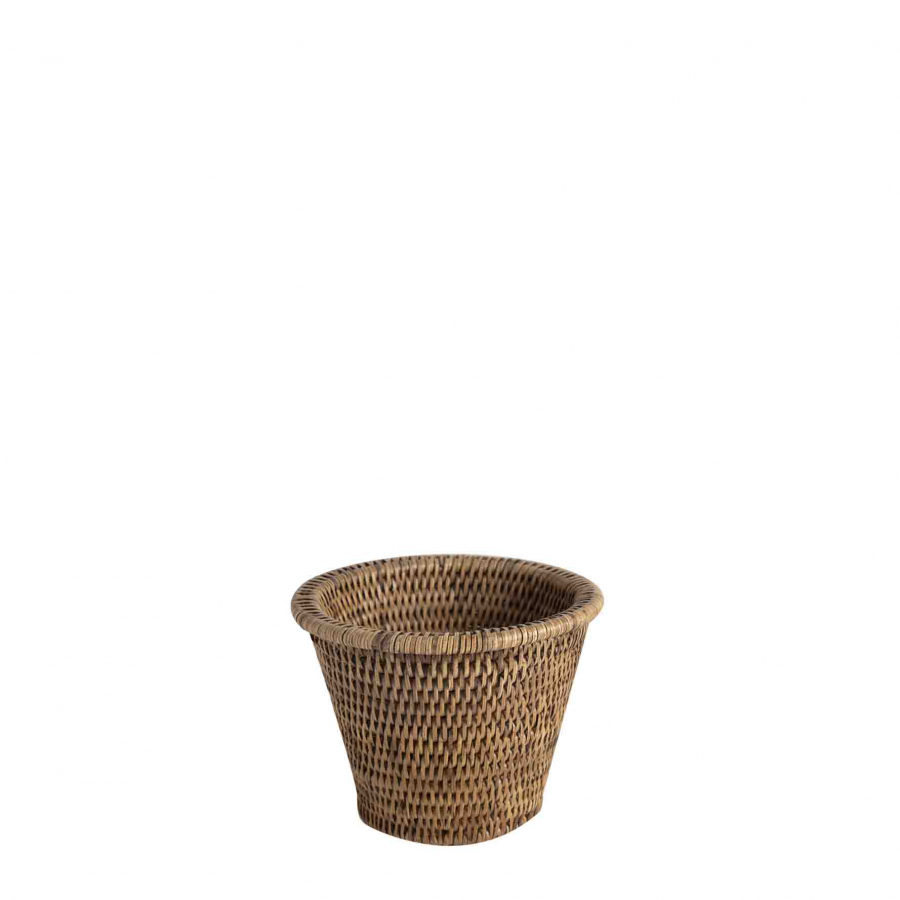 Wicker basket/cachepot  d16 h12 cm