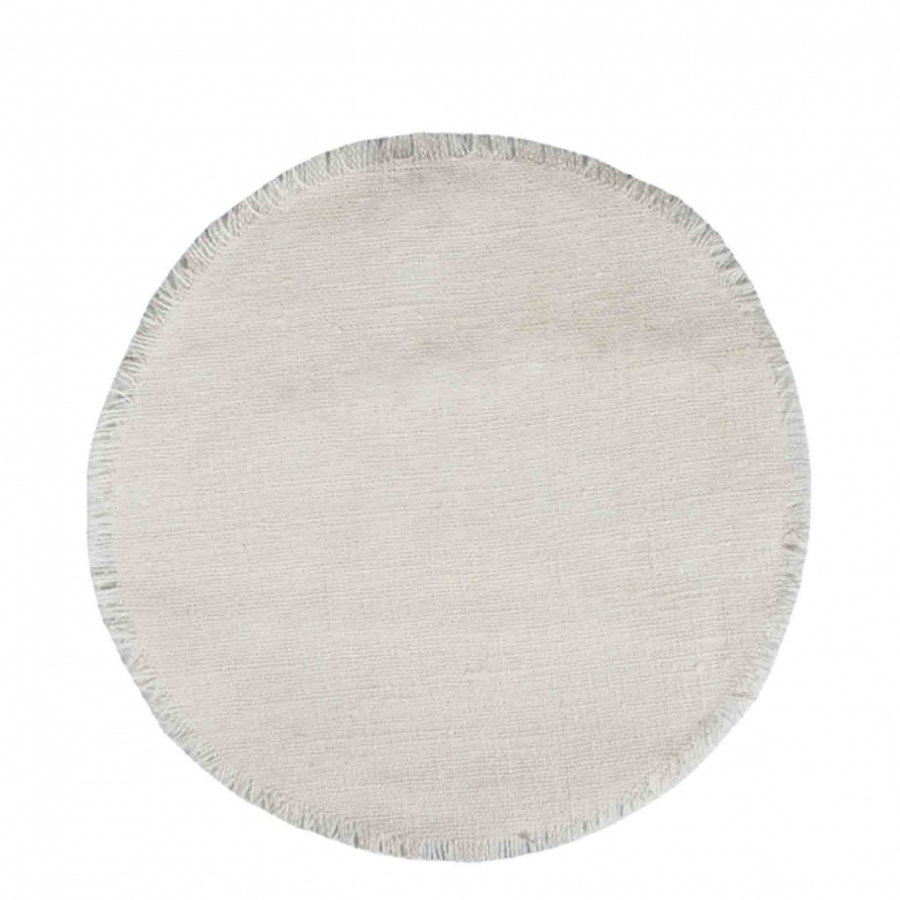100 % linen underplate white