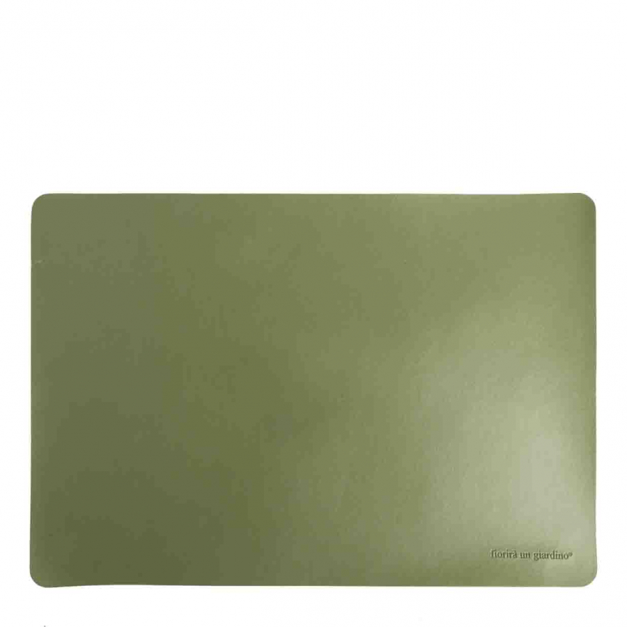 Green fake leather tablemat 32 x 45 cm