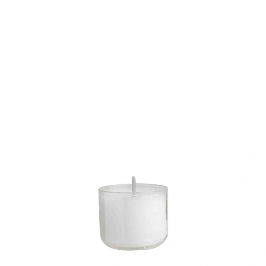 Confezione 12 tealight bianche 12 ore d4.2 h3.5 cm