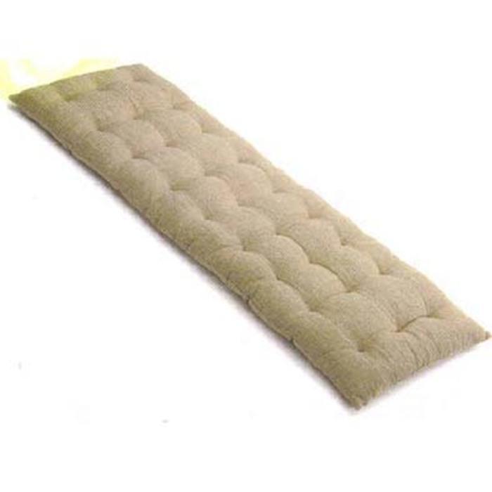 Cuscino color lino per panca assi 40 x 115 h5 cm