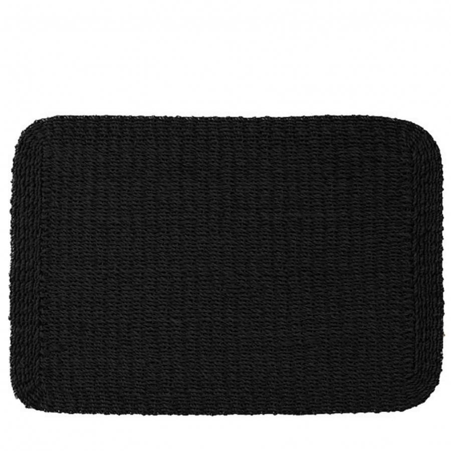Thick interwowen placemat black color 39x49.4 cm
