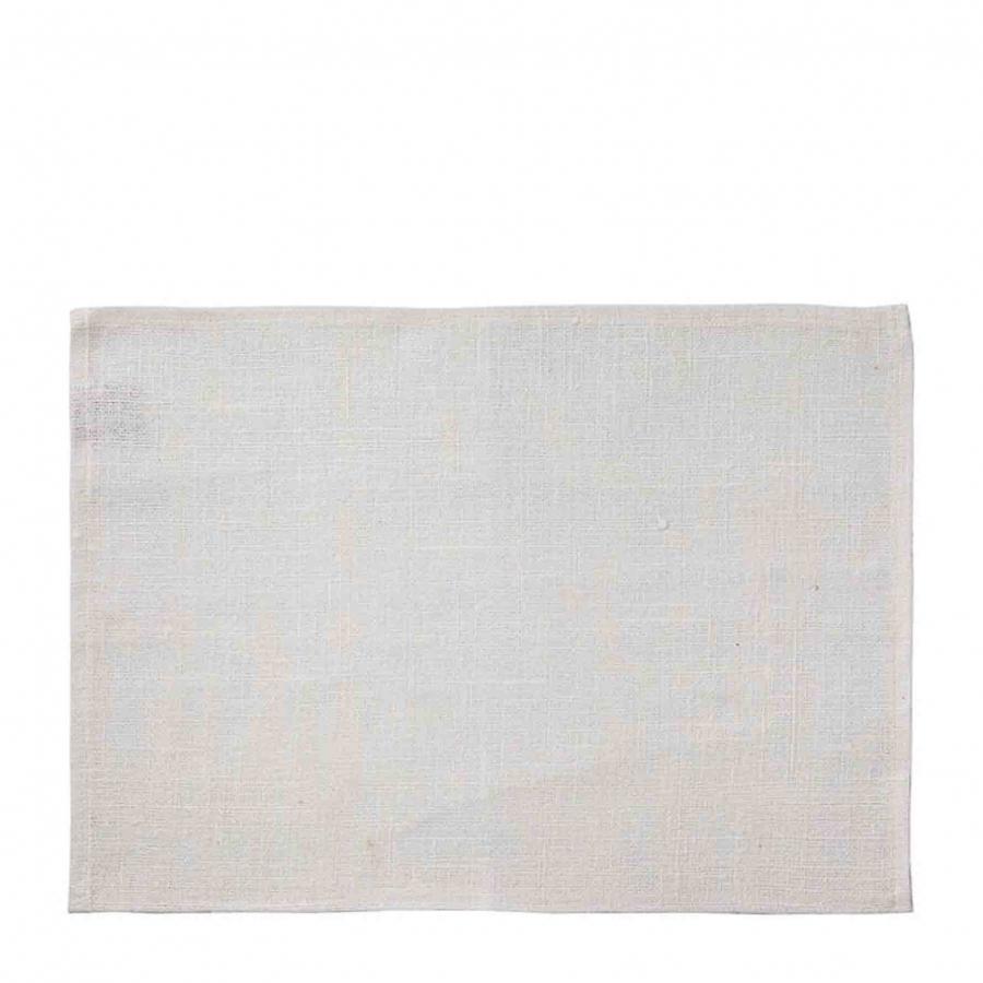 100%linen raw placemat cream color 35 x 50 cm