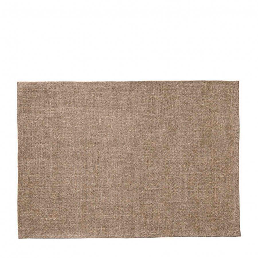 100%linen raw placemat 35 x 50 cm