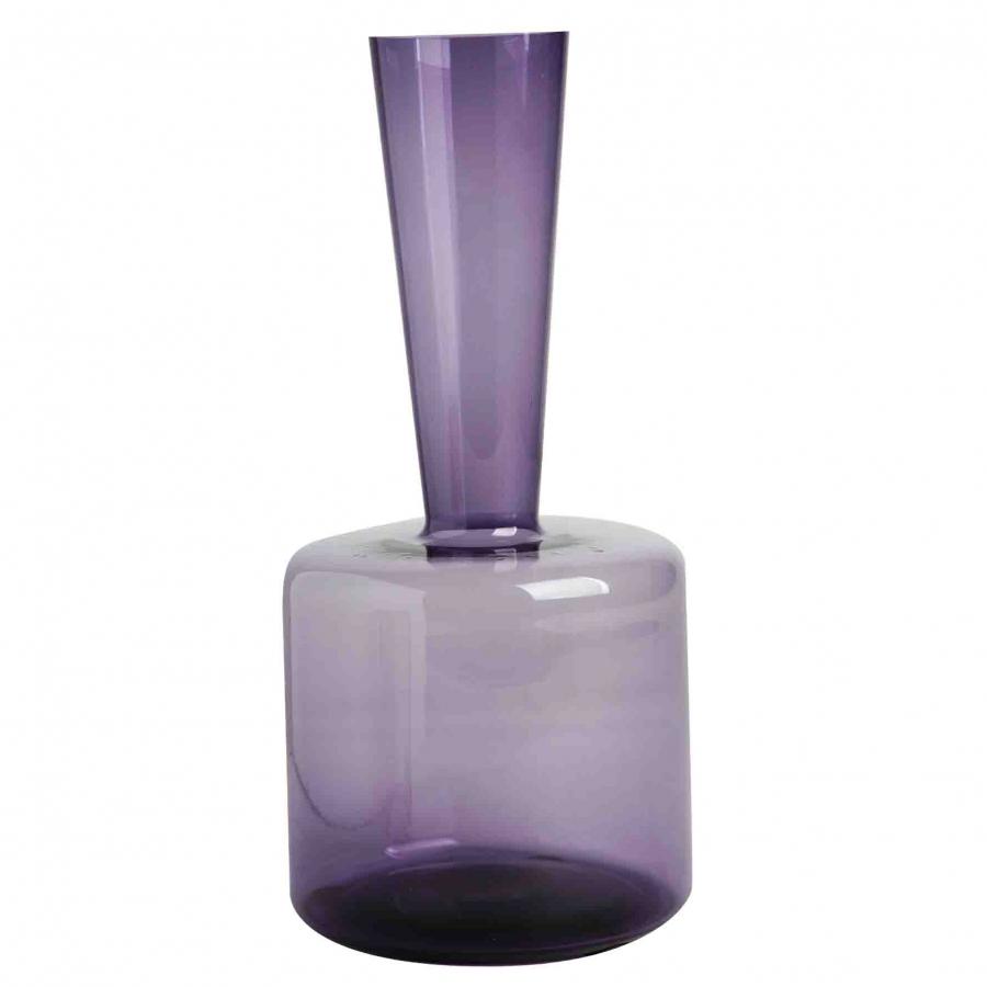 Bottiglia base larga melanzana h28 cm