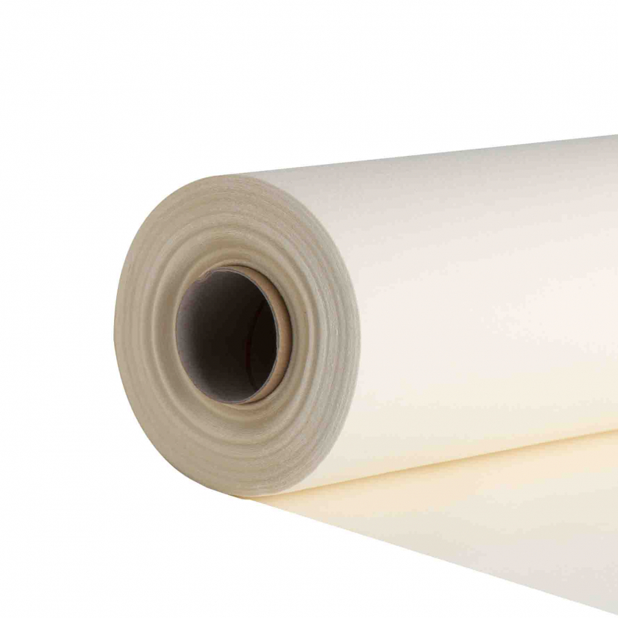 Cream compostable precut paper roll 24m x 41 cm