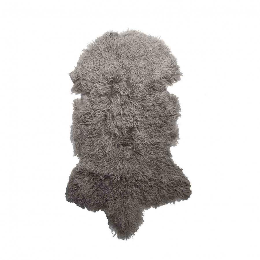 Tappeto in pelliccia della mongolia colore lino 50 x 90 cm