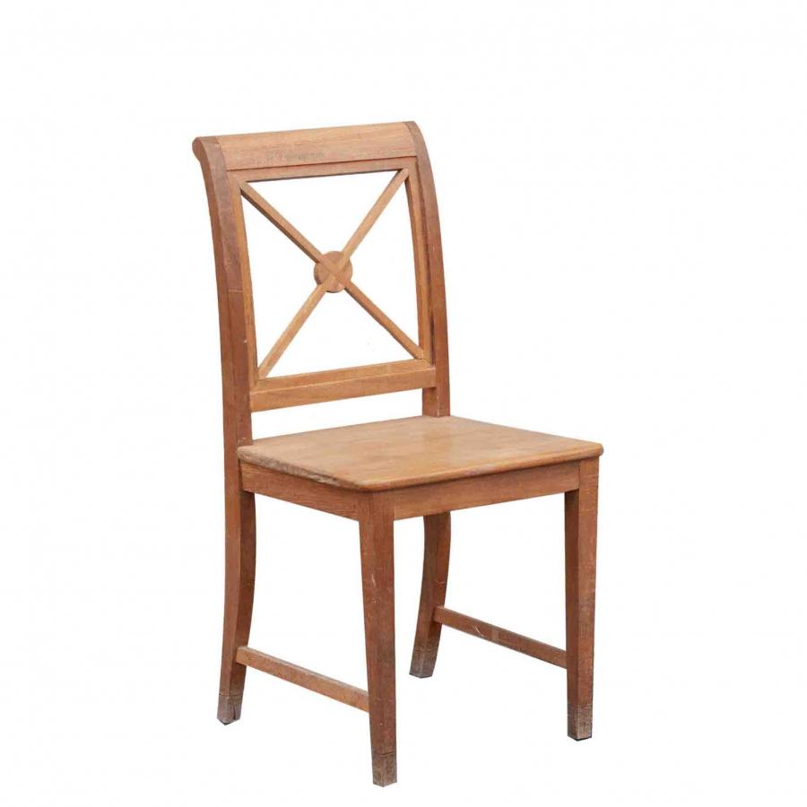 Sedia teak con seduta intera da esterno h95 cm