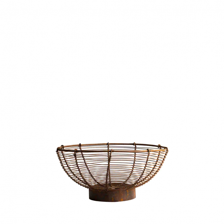 Rusty wire bowl d25 h13 cm