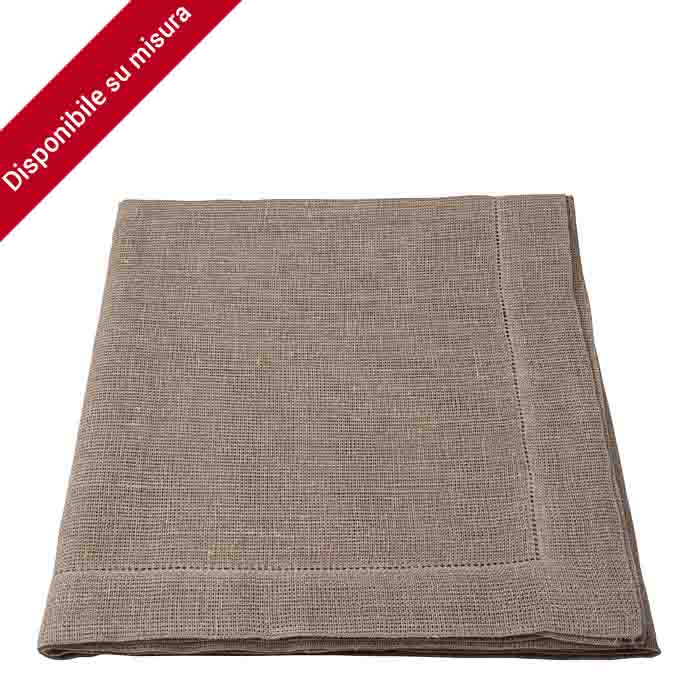 100% natural col. woven hemstitch lin. tablecloth 150 x 150 cm