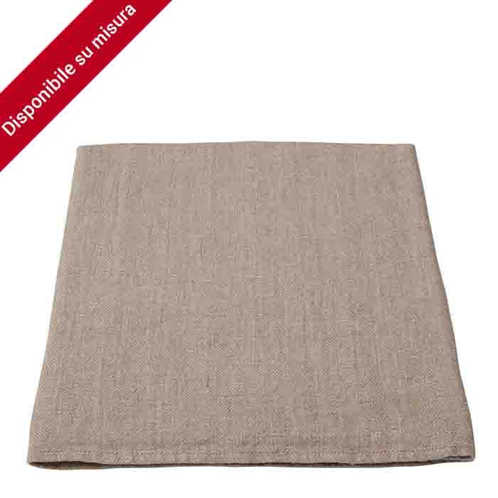 100%linen10 tablecloth natural color 160 x 270 cm