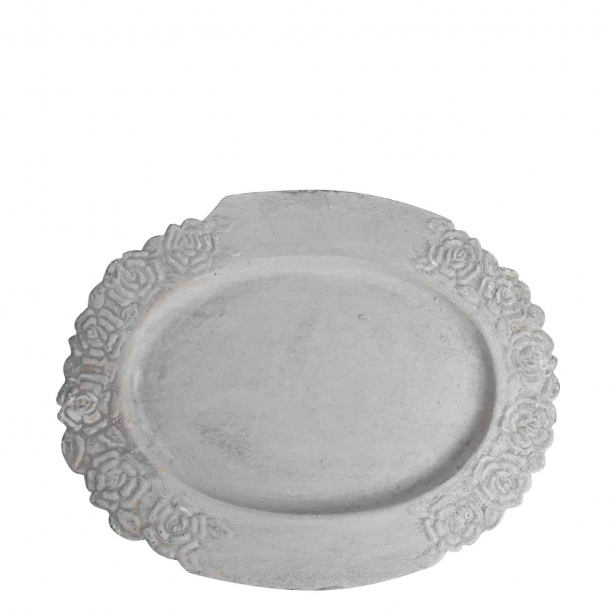 Plateau ovale en fonte grise
