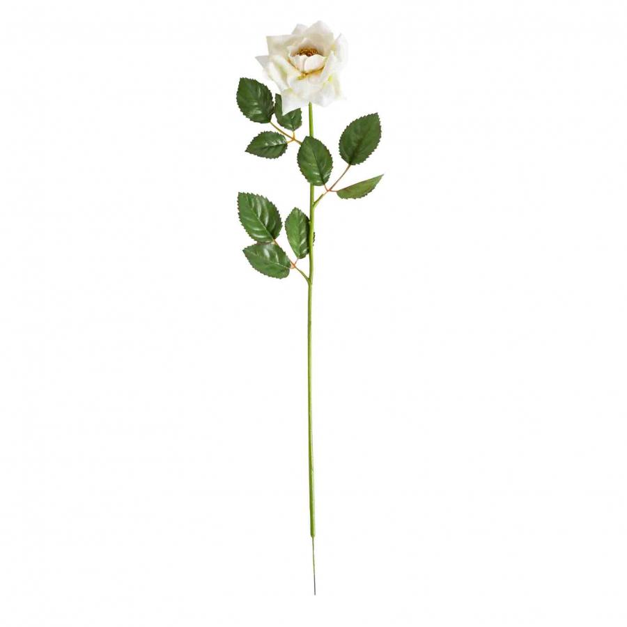 Fiore artificiale rosa panna aperta h62 cm