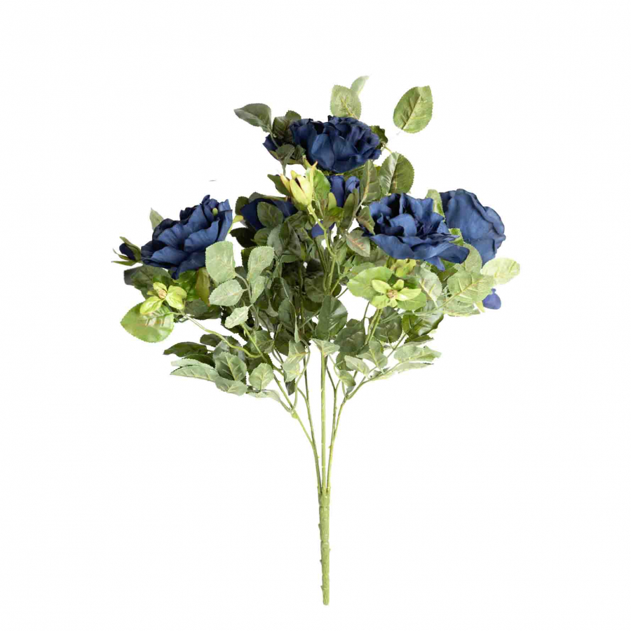 Bunch of artificial blue roses