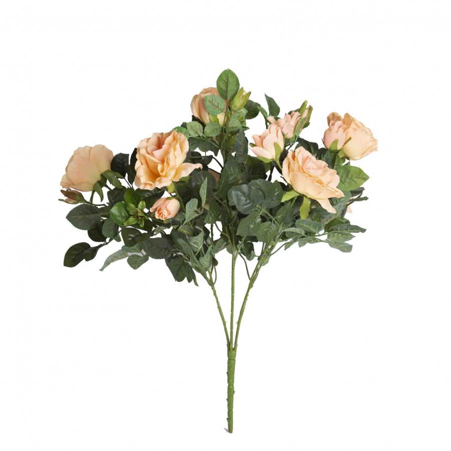 Mazzo artificiale di rose salmone 14 fiori