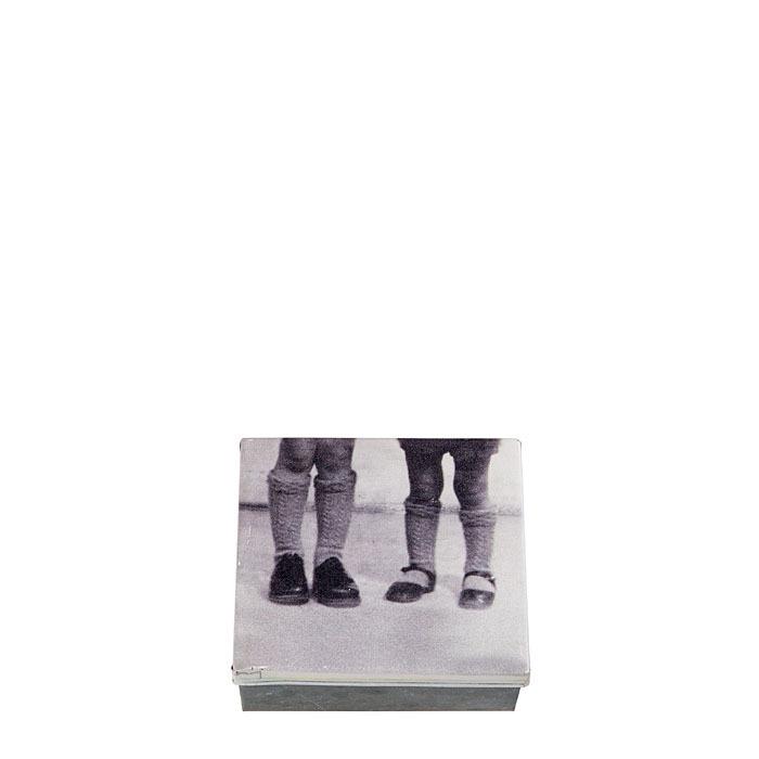 Box piedi bimbo e bimba 13 x 15 h7.5 cm