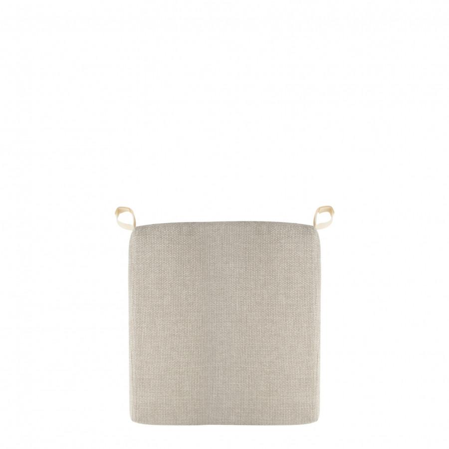 Coussin pour chaise dehoussable pour usage a l'exterieur  couleur lin 38x38 cm