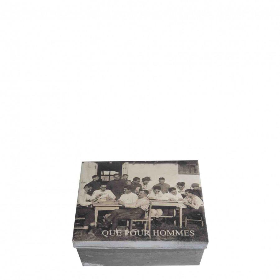 Box que pour hommes 13 x 15 h7.5 cm