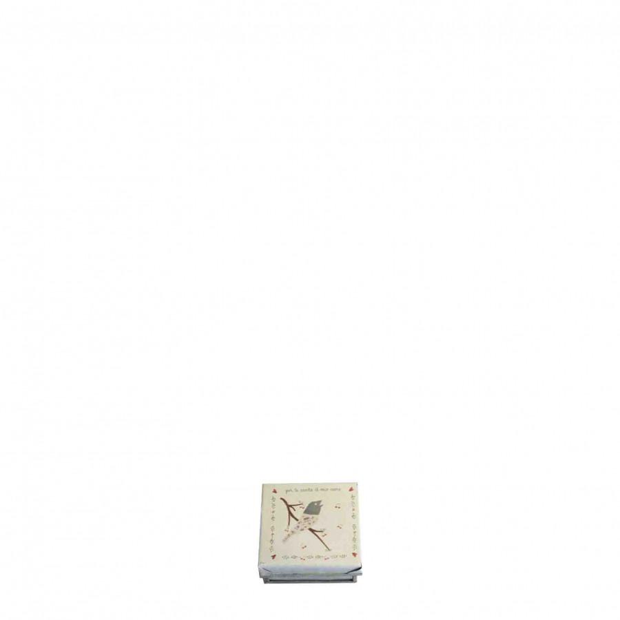 Box uccellino note 6x6x3 6 x 6 h3 cm