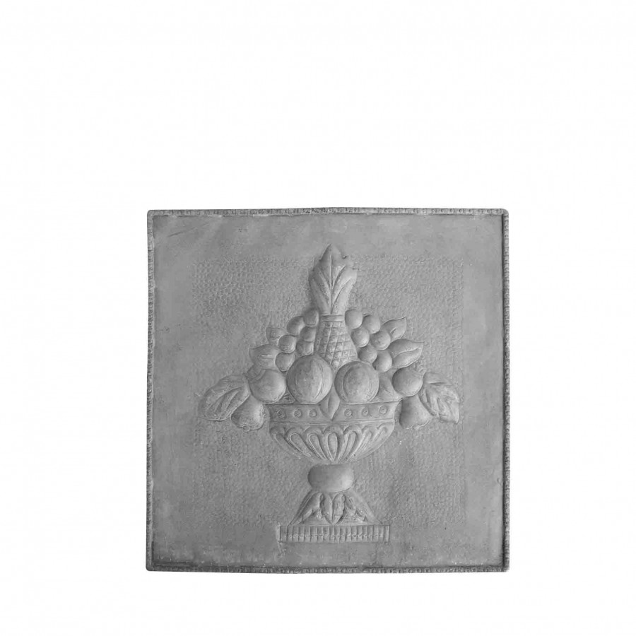 Tableau gris avec fruits 36x36 cm