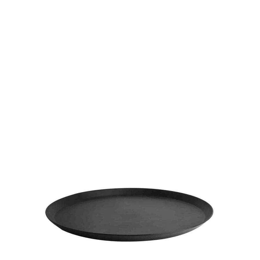 Plateau en melamine noir d21 cm