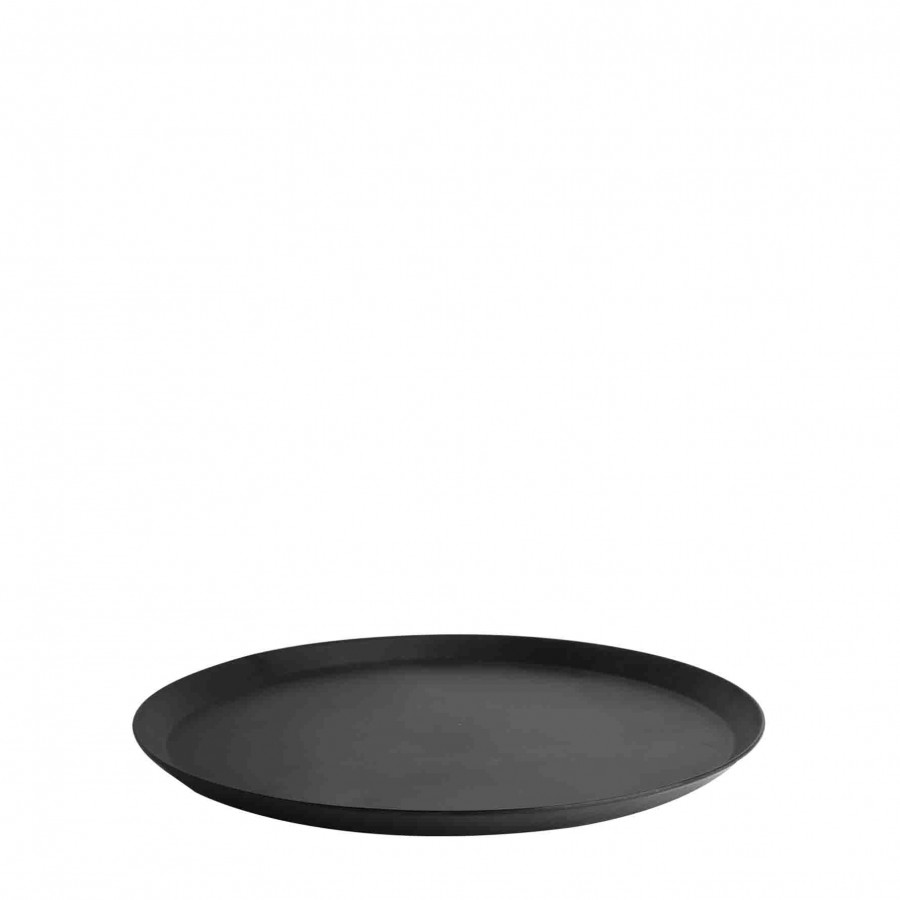 Plateau en melamine noir d26 cm