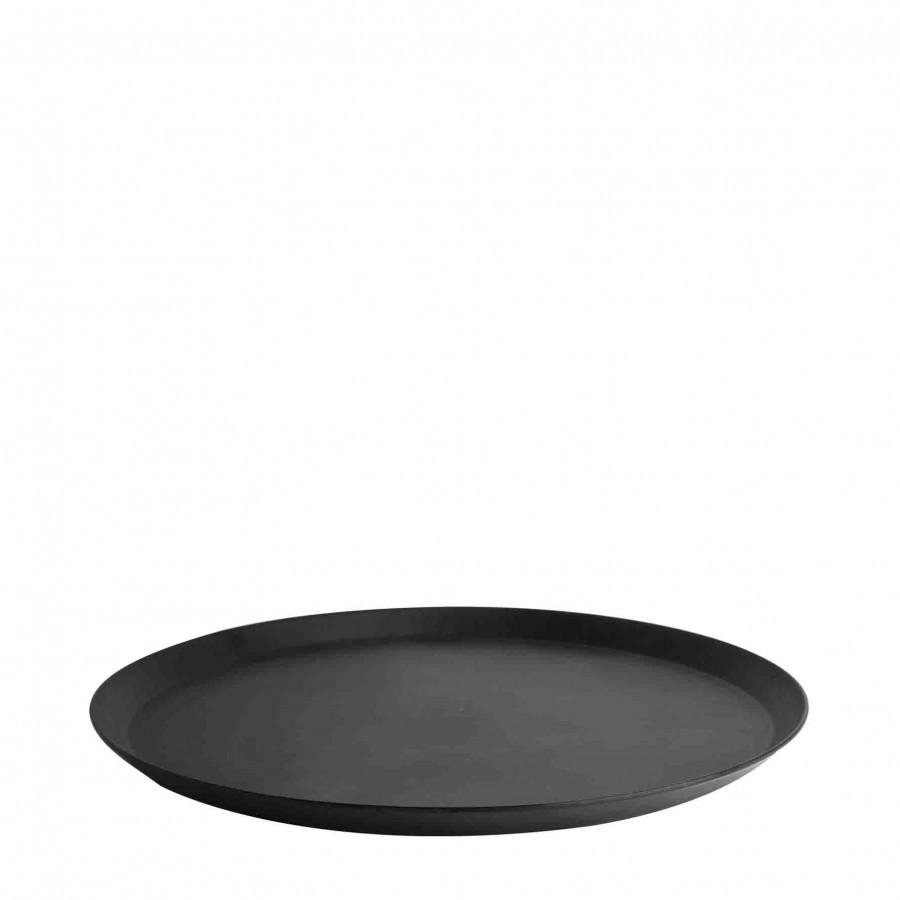 Plateau en melamine noir d31 cm