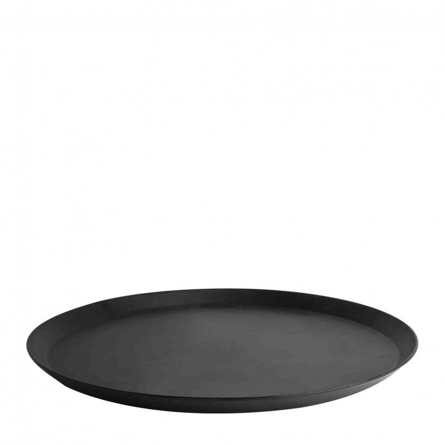 Plateau en melamine noir d36 cm