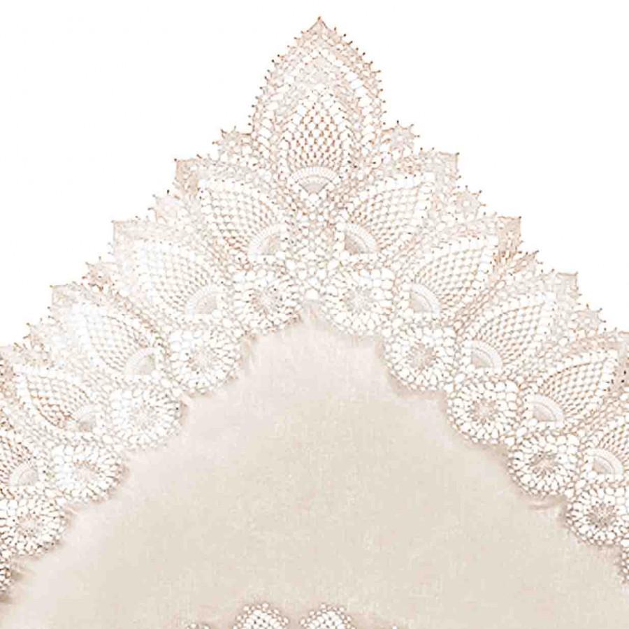 Sand vinyl lace waterproof tablecloth 137 x 182 cm