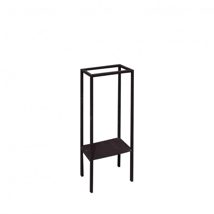 Structure noire porte serviettes 20x40 h88 cm