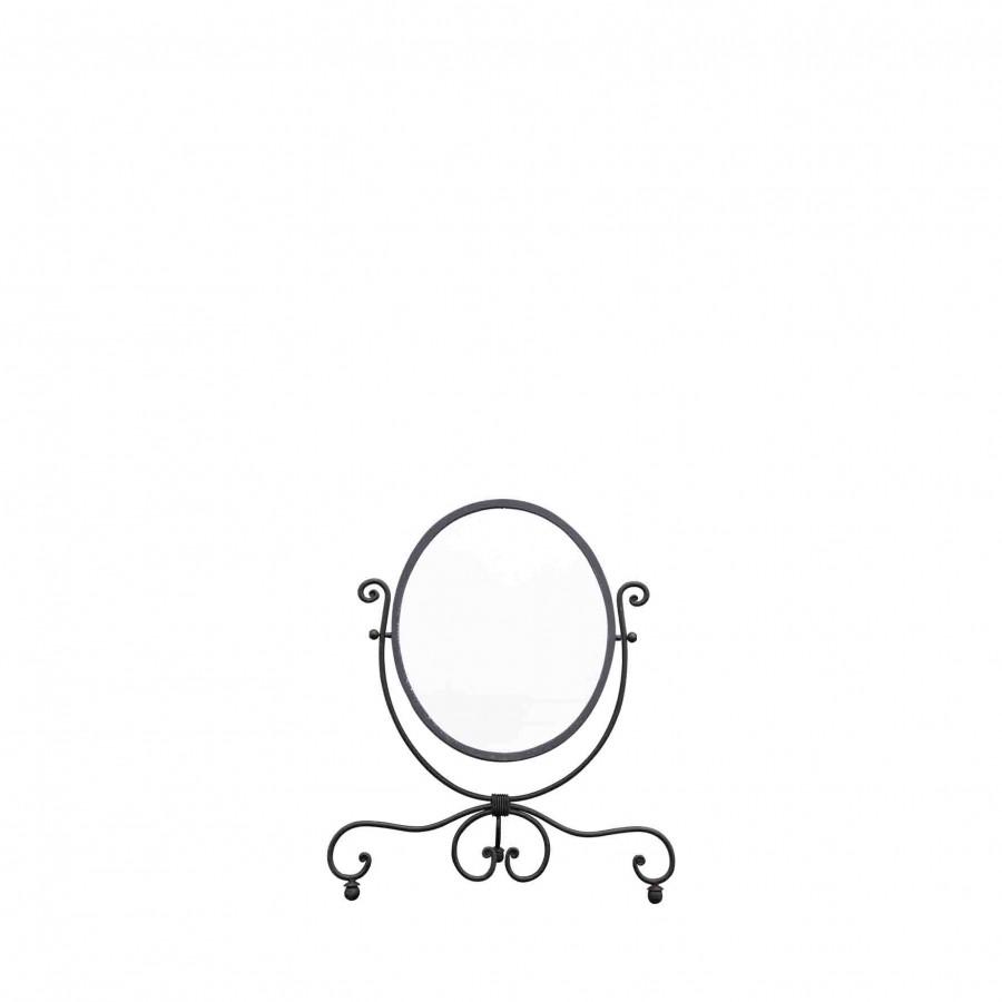 Miroir noir blanche neige 60x70 cm