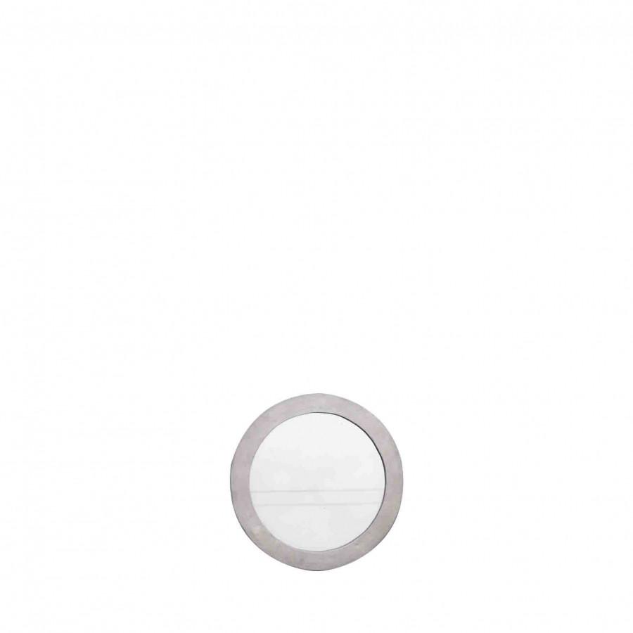 Specchio tondo cornice alluminio d50 cm