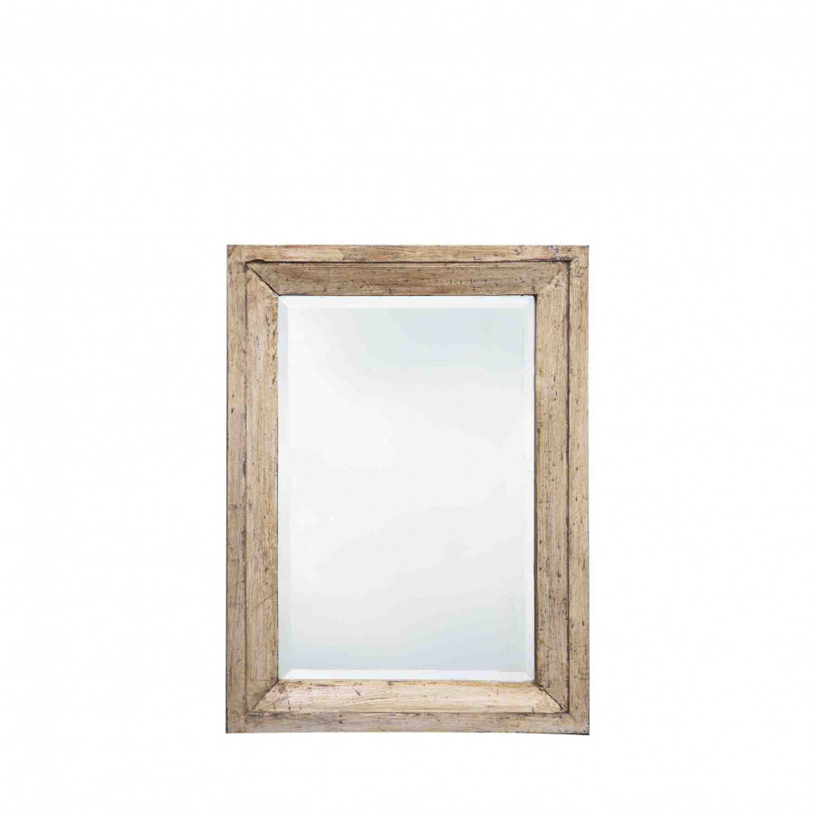 Mirror with light wooden frame 55x75 cm