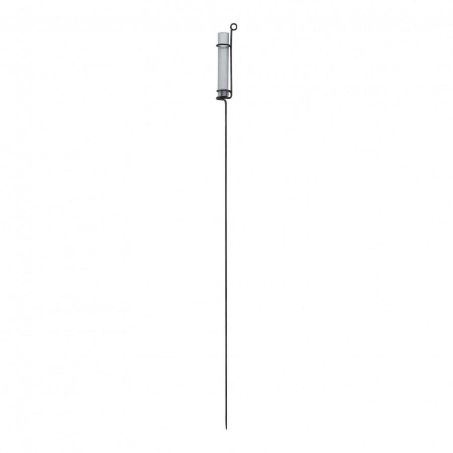 Porte-bougie en fer noir (usage exterieur) h170 cm