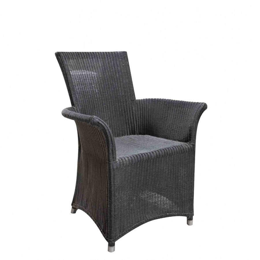 Waterproof black armchair 65x68 h95 cm