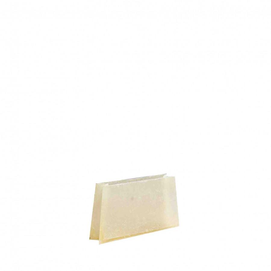 Enveloppe en resine couleur creme 6 x 30 h17 cm