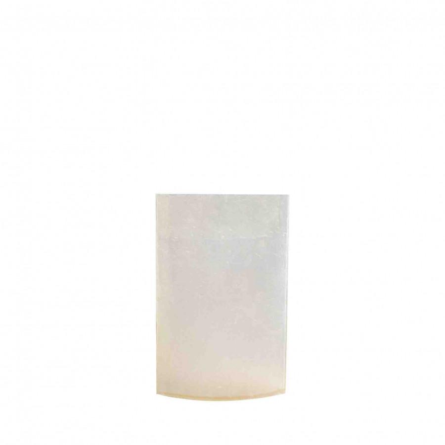 Elliptical cream resin vase 11 x 30 h45 cm