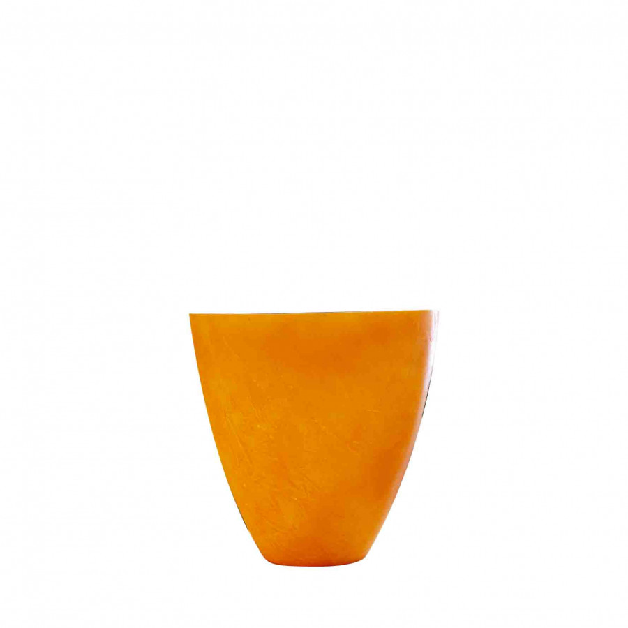 Vase orange en resine d28 h28 cm
