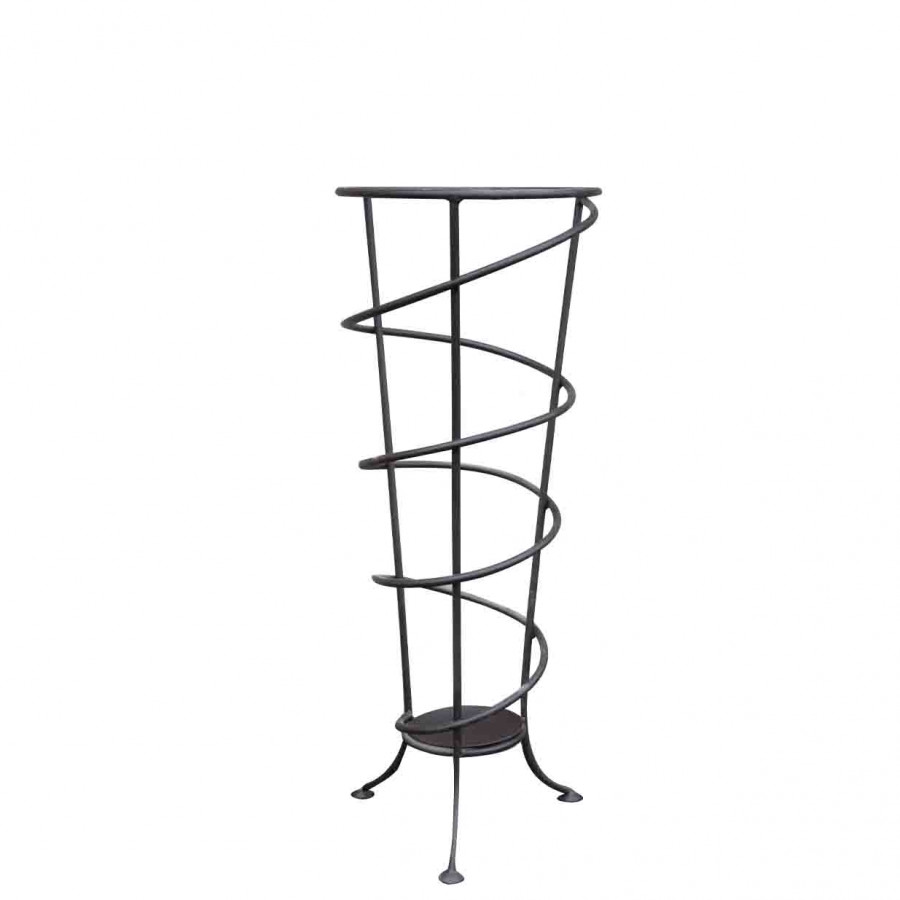 Black iron umbrella-holder h77 cm