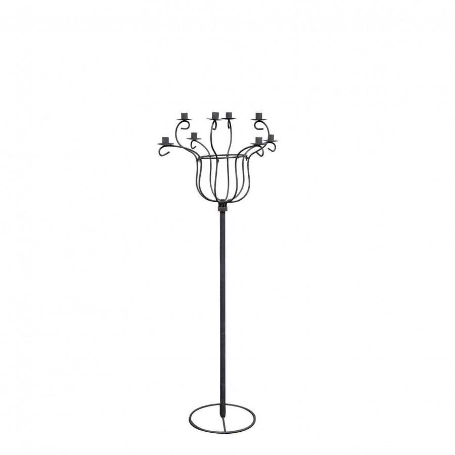 Black chandelier 8 candles h130 cm