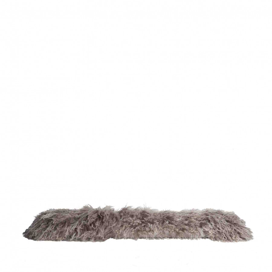 Linen mongolian fur draught excluder (no filling included) 14.5 x 95 cm